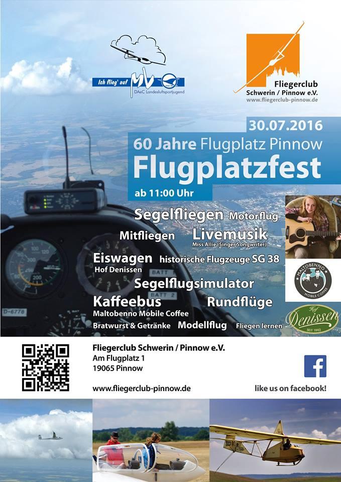 60 Jahre Flugplatz Pinnow am 30.07.2016